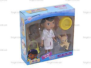 Кукла «Доктор Плюшева» с питомцами, SY06A, купить
