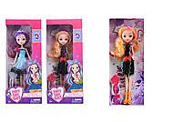 Кукла «Ever After High» 10 видов, с сумочкой, на шарнирах, 601-44-5-6-7-8A, оптом