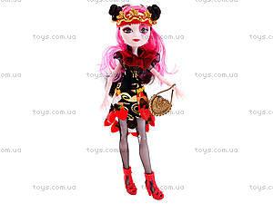 Детская кукла типа Ever After High с аксессуарами, D221B, цена
