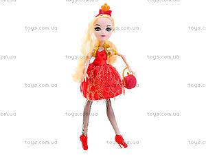 Детская кукла типа Ever After High с аксессуарами, D221B, детские игрушки
