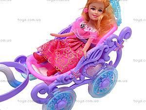 Кукла Funny, с каретой, 0058, цена