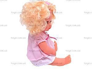 Кукла интерактивная с бутылочкой, 30666-23B, детские игрушки