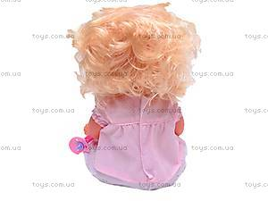 Кукла интерактивная с бутылочкой, 30666-23B, магазин игрушек
