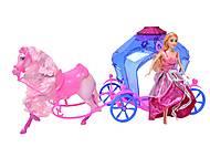 Кукла Jinni с каретой и лошадью, 83142, оптом