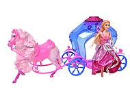 Кукла Jinni с каретой и лошадью, 83142