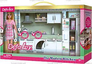 Кукла-хозяюшка с кухонным гарнитуром, 6085