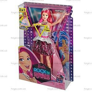 Детская кукла Кортни из м/ф «Барби: Рок-принцесса», CMR99, фото