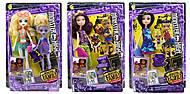 "Кукла ""Monster High Family"", 3 вида, с малышом, FCV768182, детские игрушки"
