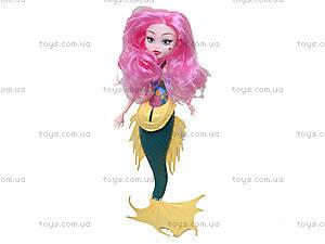 Кукла-русалочка для девочек Monster, 8098A, детские игрушки