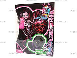 Кукла Monster High, с платьем, HP1031796, игрушки