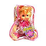 Кукла музыкальная «Алина» в розовом костюме, 5288
