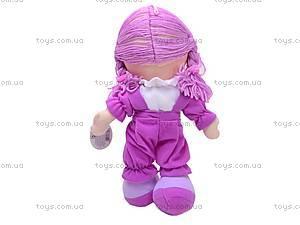 Кукла музыкальная с косичками, R0114F, фото