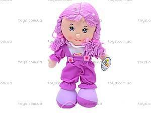 Кукла музыкальная с косичками, R0114F