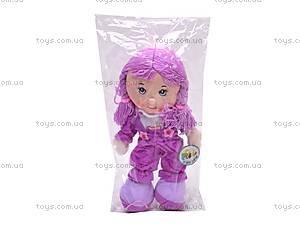 Кукла музыкальная с косичками, R0114F, цена