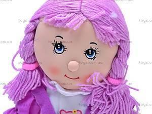 Кукла музыкальная с косичками, R0114F, игрушки