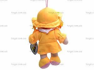 Кукла мягкая музыкальная с косичками, Y1408/15/1808, фото