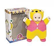 Кукла мягкая музыкальная в костюме медвежонка, T1-18A, купить