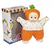 Кукла мягкая музыкальная в костюме морковки, T1-18A, детские игрушки