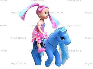 Маленькая кукла с лошадью, 567D, фото