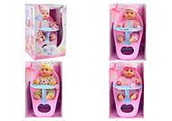 Кукла-пупс интерактивный со стульчиком для кормления, AD002Y-123, отзывы