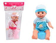 Кукла - пупс с горшком и соской, YL1712K-E