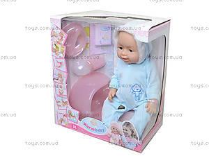 Интерактивная кукла - пупс, глазки закрываются, 8006-401B, фото