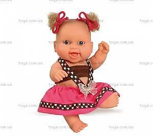 Кукла-пупс «Европейка», в розовом, 01207