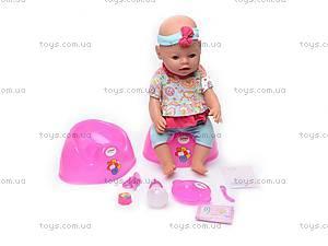 Кукла-пупс, интерактивная с аксессуарами, 8002-8