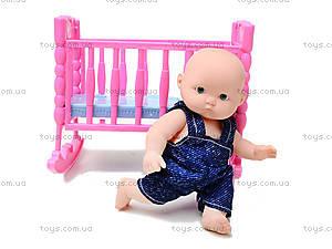 Кукла-пупс с кроваткой «Принцесса», KY05-18, фото