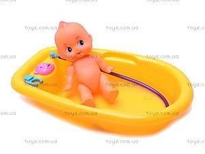 Кукла-пупс, с ванной, 883-8