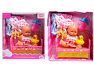 Кукла - пупс с аксессуарами, 2 вида, YD416-1214, фото