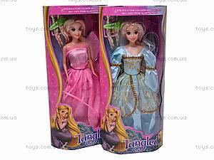 Кукла «Рапунцель», с косичками, L-2D, фото