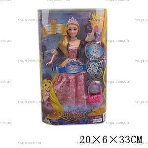 Кукла «Рапунцель», с сумочкой и украшениями, M83015
