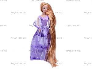 Кукла «Рапунцель», в блестящем платье, L-2C