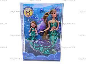Кукла-русалка меняет цвет волос, 21011, игрушки