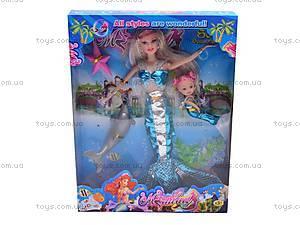 Кукла-русалка с дочкой и дельфином, 0228C, фото