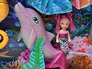 Кукла-русалка с набором костюмов, 66354, игрушки