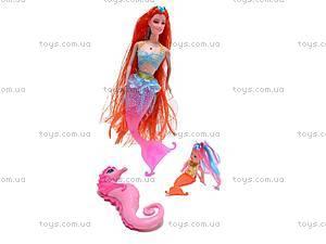 Кукла-русалка с ребеночком, музыкальная, 170-2