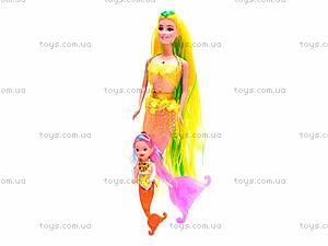Кукла-русалка с ребеночком, музыкальная, 170-2, детские игрушки