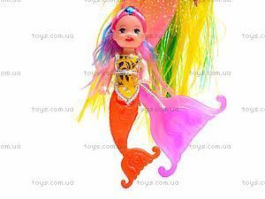 Кукла-русалка с ребеночком, музыкальная, 170-2, toys