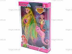 Кукла-русалка с ребеночком, музыкальная, 170-2, іграшки