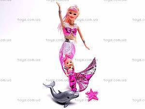 Кукла-русалочка с дочкой и дельфином, 0228B