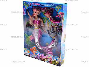 Кукла-русалочка с дочкой и дельфином, 0228B, игрушки