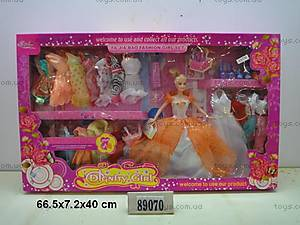Кукла, с гардеробом и аксессуарами, 89070