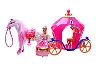 Кукла с каретой и лошадью, JHD689J, купить