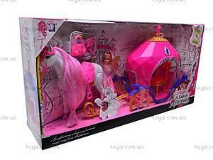 Кукла с каретой и лошадью, JHD689J, цена