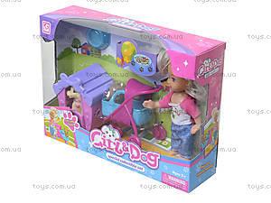 Кукла с коляской и собачкой в коробке, K899-24, купить