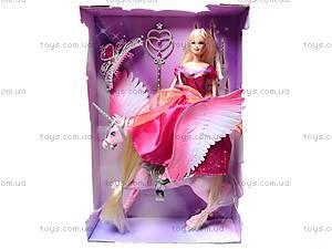 Кукла с конем-единорогом, 66285, игрушки