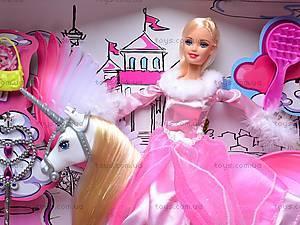 Кукла с лошадью и аксессуарами, 66305, фото