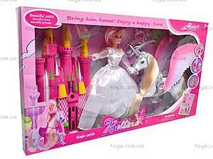 Кукла с лошадью и замком, 66319, цена